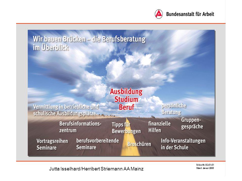 Es gibt zur Zeit 350 Berufe Jutta Isselhard/Herribert Striemann AA Mainz