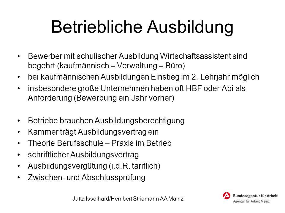 Bewerbungstermine 2015 ab Februar 2014 Banken, Versicherungen ab Mai 2014 Großbetriebe Industrieunterneh men ab Juli 2014 kleineren und mittleren Betrieben Jutta Isselhard/Herribert Striemann AA Mainz
