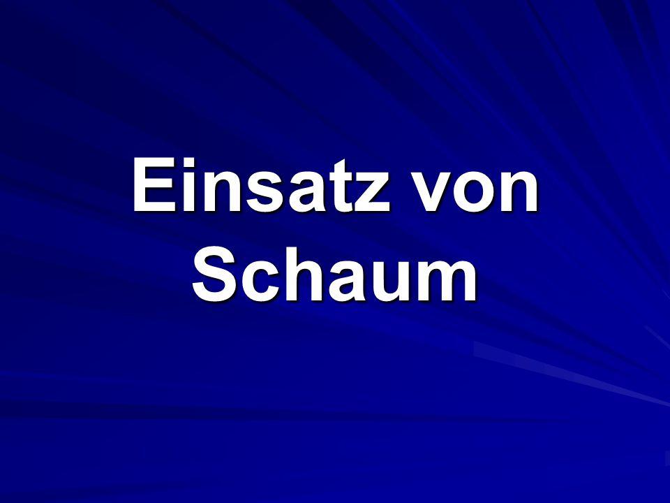 Schaumrohr TypeZumischungl/ minm3/ minWurfweite/ mSMM/ min Reaktionszeitbedarf Zeit/ 20 m S23%2001,223610 s S43%4002,427125 s M23%200157610 s M43%400309125 s