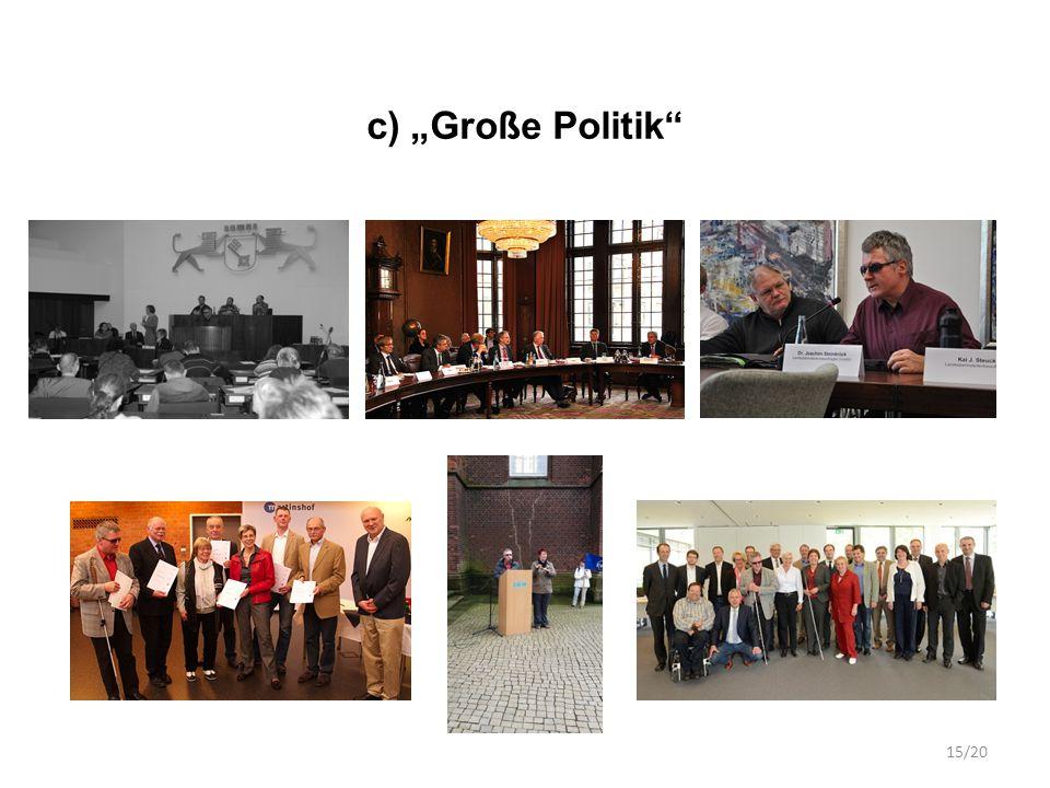 """c) """"Große Politik 15/20"""