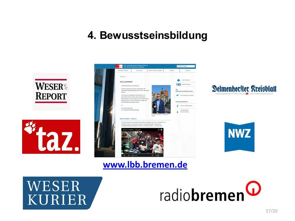 4. Bewusstseinsbildung www.lbb.bremen.de 17/20
