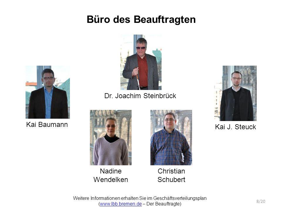 Büro des Beauftragten Kai Baumann Dr. Joachim Steinbrück Kai J.
