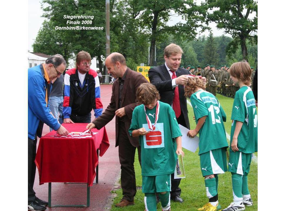 Siegerehrung Finale 2008 Dornbirn/Birkenwiese