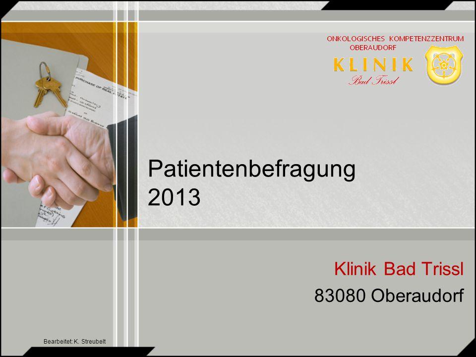 Patientenbefragung 2013 kumuliert