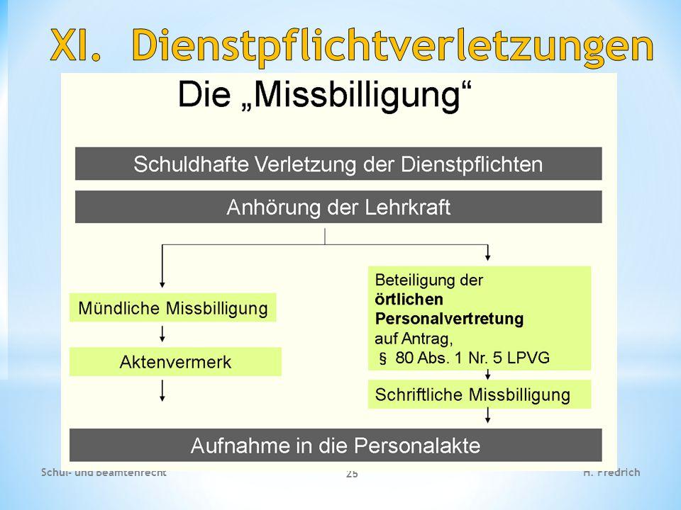 Fallbeispiel 1 Schul- und Beamtenrecht 25 H. Fredrich