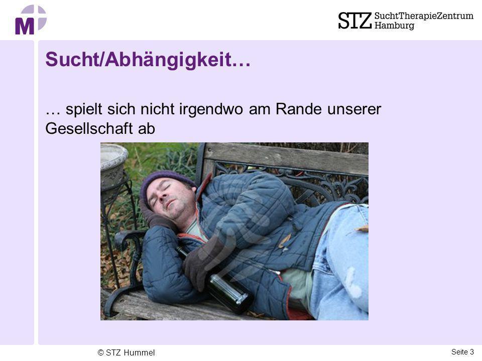 Sucht/Abhängigkeit… … spielt sich nicht irgendwo am Rande unserer Gesellschaft ab Seite 3 © STZ Hummel
