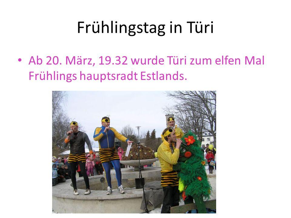 Frühlingstag in Türi Ab 20. März, 19.32 wurde Türi zum elfen Mal Frühlings hauptsradt Estlands.