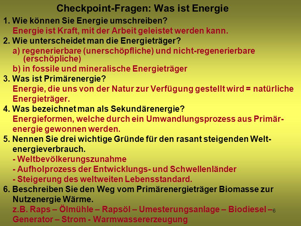 7 Energieverbrauch der Weltbevölkerung