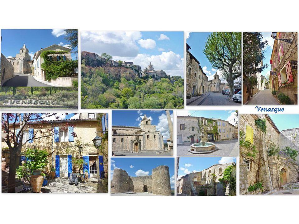 Venasque Der hübsche Ort am Rande des Vaucluse Massives in der Nähe von Carpentras gilt als eines der schönsten Dörfer Frankreichs. Das Dorf liegt auf