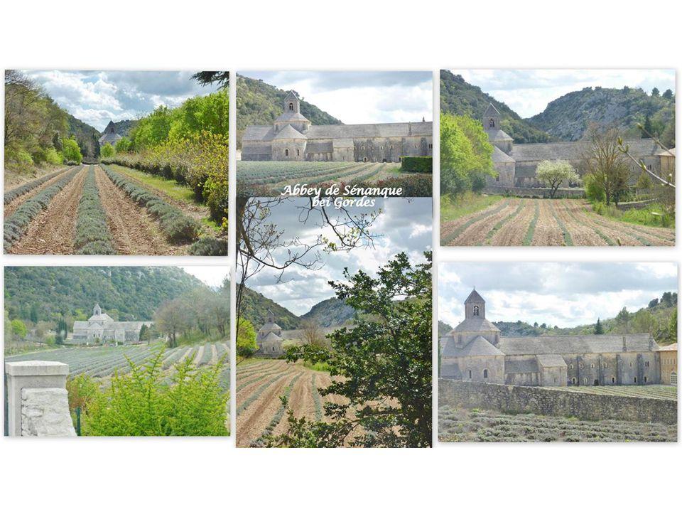 Die Zisterzienser-Abtei Sénanque In der Provence sind noch 3 Zisterzienserklöster erhalten geblieben : Sénanque, Silvacane und La Thoronet.