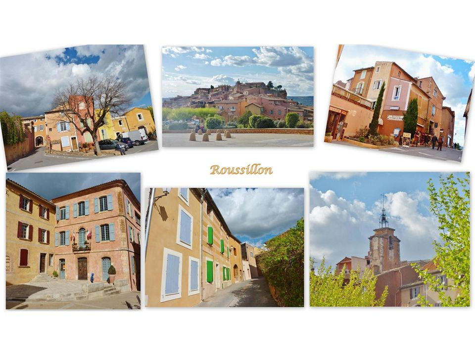 Roussillon Der kleine, idyllische Ort in erhöhter Lage zählt zu den schönsten Dörfern Frankreichs und ist mit seinen Häusern in allen Nuancen der Ockererde sehr farbenfroh.
