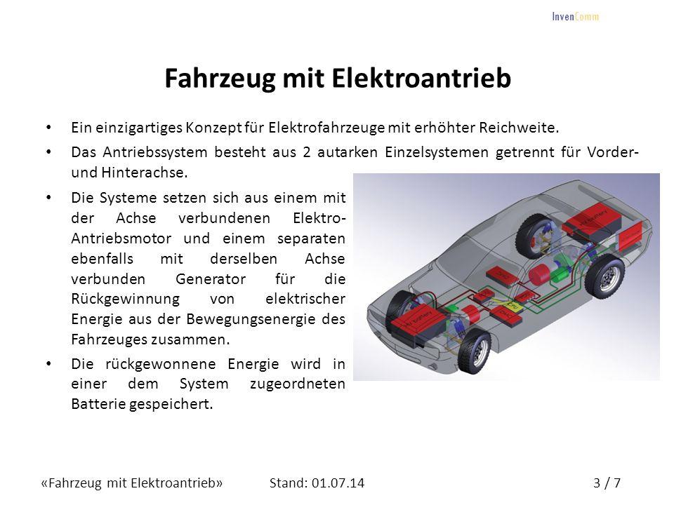 «Fahrzeug mit Elektroantrieb»3 / 7Stand: 01.07.14 InvenComm Fahrzeug mit Elektroantrieb Ein einzigartiges Konzept für Elektrofahrzeuge mit erhöhter Re