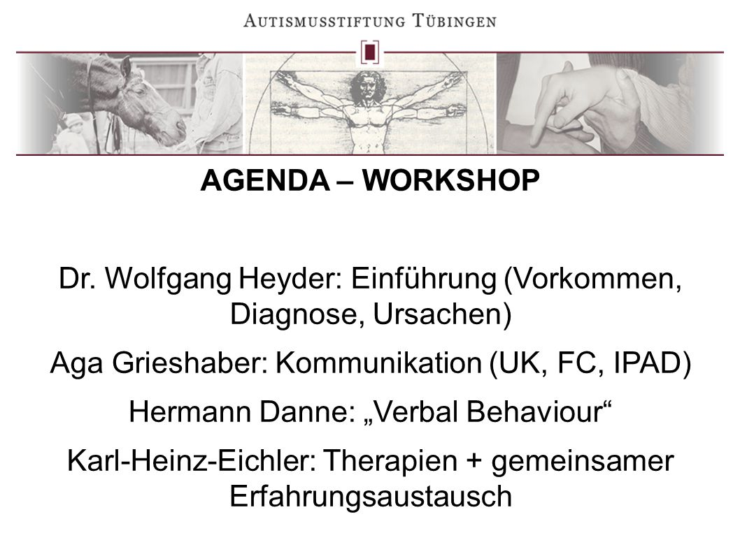 AGENDA – WORKSHOP Dr.