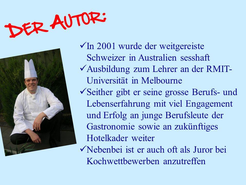 In 2001 wurde der weitgereiste Schweizer in Australien sesshaft Ausbildung zum Lehrer an der RMIT- Universität in Melbourne Seither gibt er seine gros