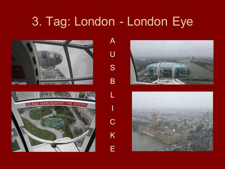 3. Tag: London - London Eye AUSBLICKEAUSBLICKE
