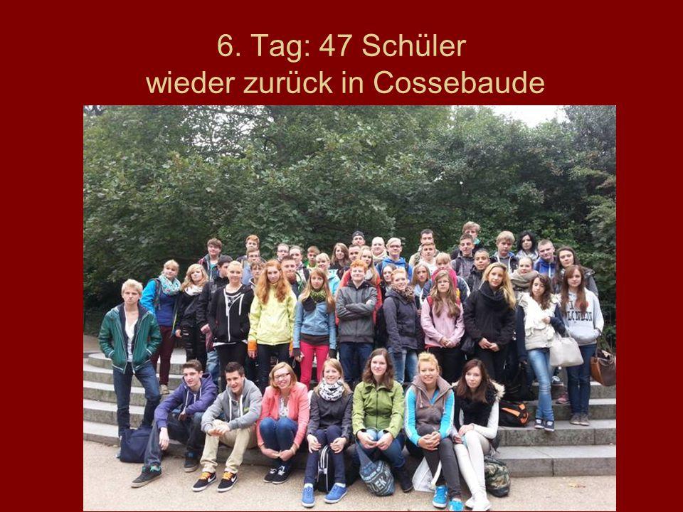 6. Tag: 47 Schüler wieder zurück in Cossebaude