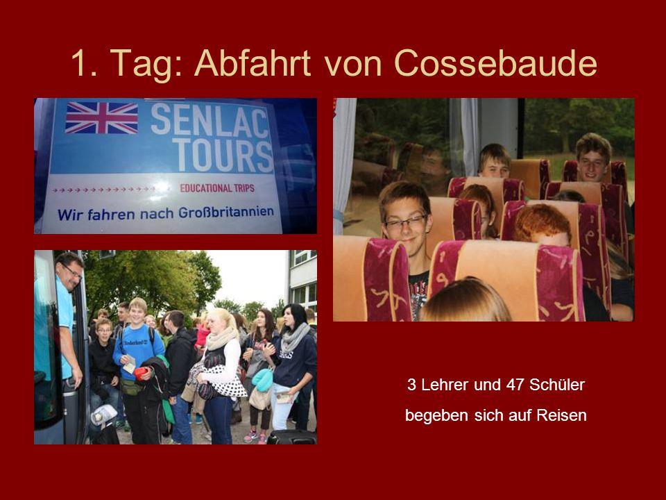 1. Tag: Abfahrt von Cossebaude 3 Lehrer und 47 Schüler begeben sich auf Reisen