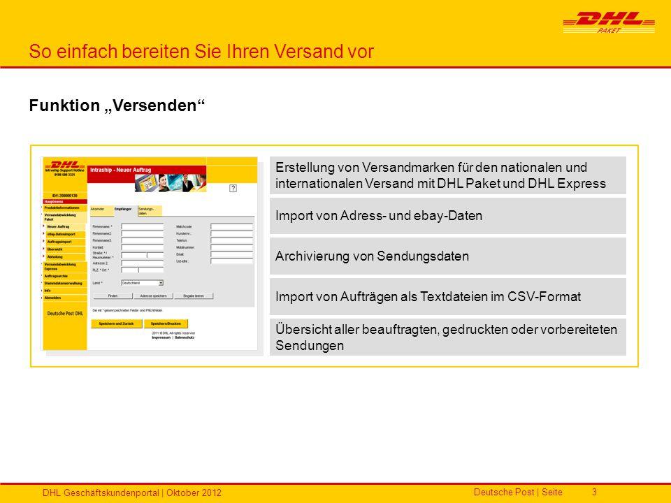 Deutsche Post   Seite DHL Geschäftskundenportal   Oktober 2012 14 Passwortgültigkeiten Zugangsdaten im DHL Geschäftskundenportal Beschreibung DHL Geschäftskundenportal Erste Anmeldung im Portal 30 Tage nach Zusendung der OptIn-Email haben Sie die Möglichkeit sich im GKP anzumelden.