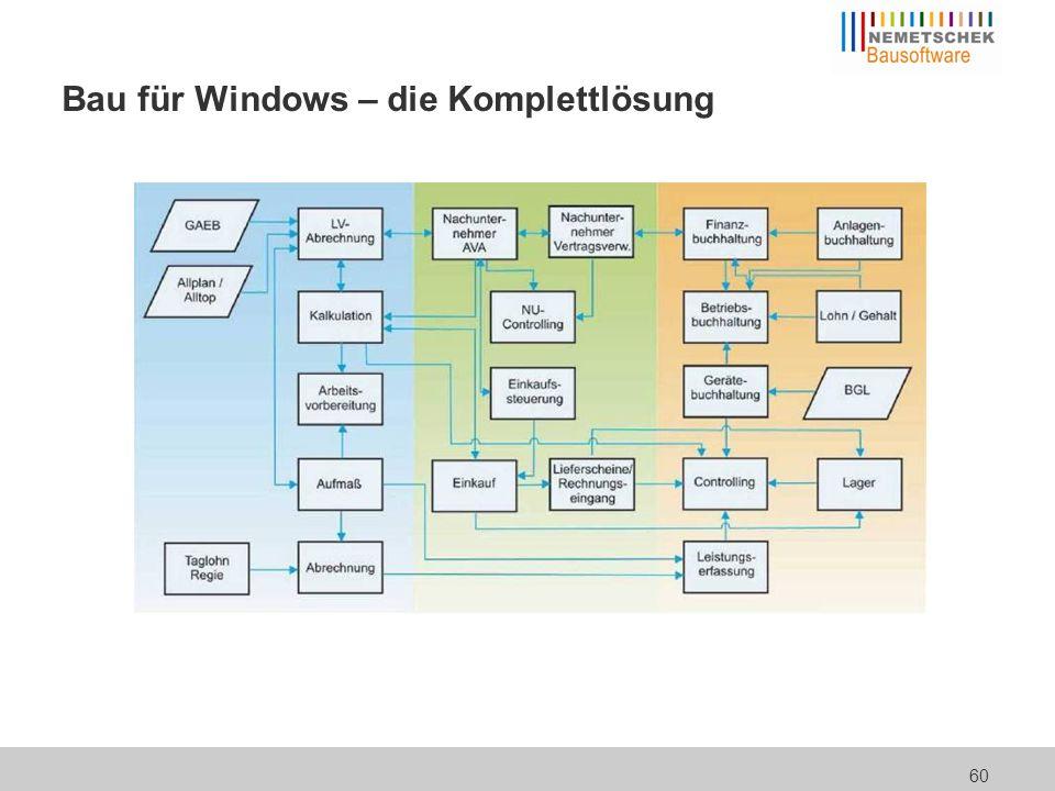 60 Bau für Windows – die Komplettlösung