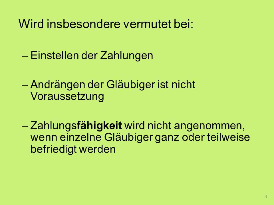 Im Konkurs werden die übrigen Gläubiger vorrangig befriedigt Erstattungsanspruch der GmbH gegen den Gesellschafter und den Geschäftsführer wenn eigenkapitalersetzende Leistungen an den Gesellschafter zurückbezahlt wurden Frist: 5 Jahre ab Zahlung –Gilt für: a) Kapitalgesellschaften b) Genossenschaft mbH C) GmbH & Co KG 24