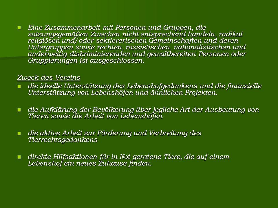 Lifestyle Der Vorstand und die Hof-/ProjektbetreiberInnen, die von Free Animal e.
