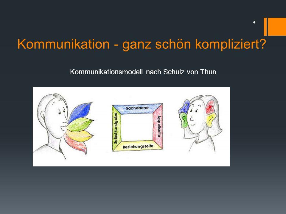Kommunikation - ganz schön kompliziert? 4 Kommunikationsmodell nach Schulz von Thun