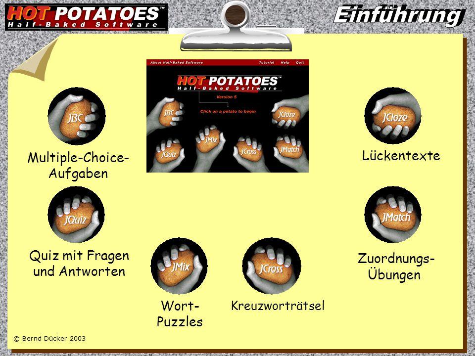 © Bernd Dücker 2003 Werkzeuge für webbasierten Unterricht