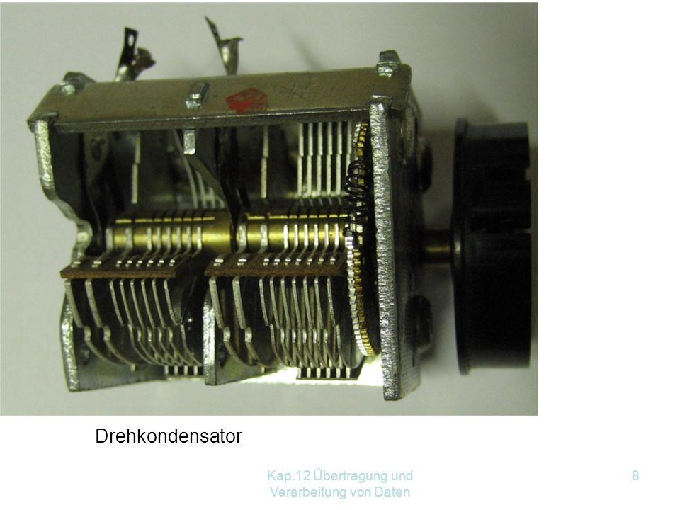 Kap.12 Übertragung und Verarbeitung von Daten 8 Drehkondensator
