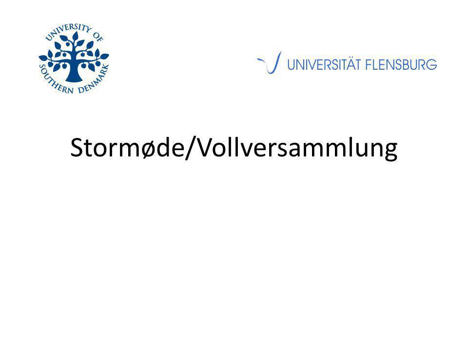 Stormøde/Vollversammlung