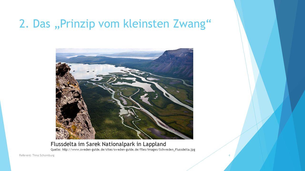 """2. Das """"Prinzip vom kleinsten Zwang"""" Flussdelta im Sarek Nationalpark in Lappland Quelle: http://www.sweden-guide.de/sites/sweden-guide.de/files/image"""