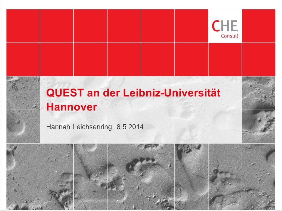 QUEST an der Leibniz-Universität Hannover Hannah Leichsenring, 8.5.2014