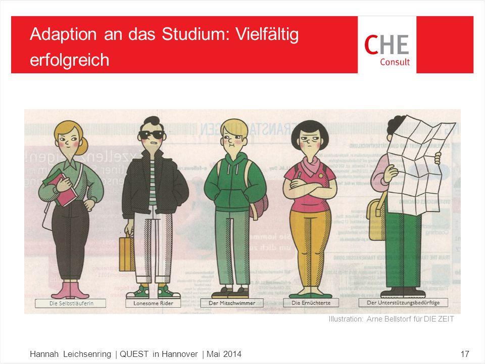 17 Adaption an das Studium: Vielfältig erfolgreich Illustration: Arne Bellstorf für DIE ZEIT Die Selbstläuferin