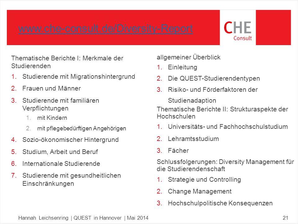 Thematische Berichte I: Merkmale der Studierenden 1.Studierende mit Migrationshintergrund 2.Frauen und Männer 3.Studierende mit familiären Verpflichtu