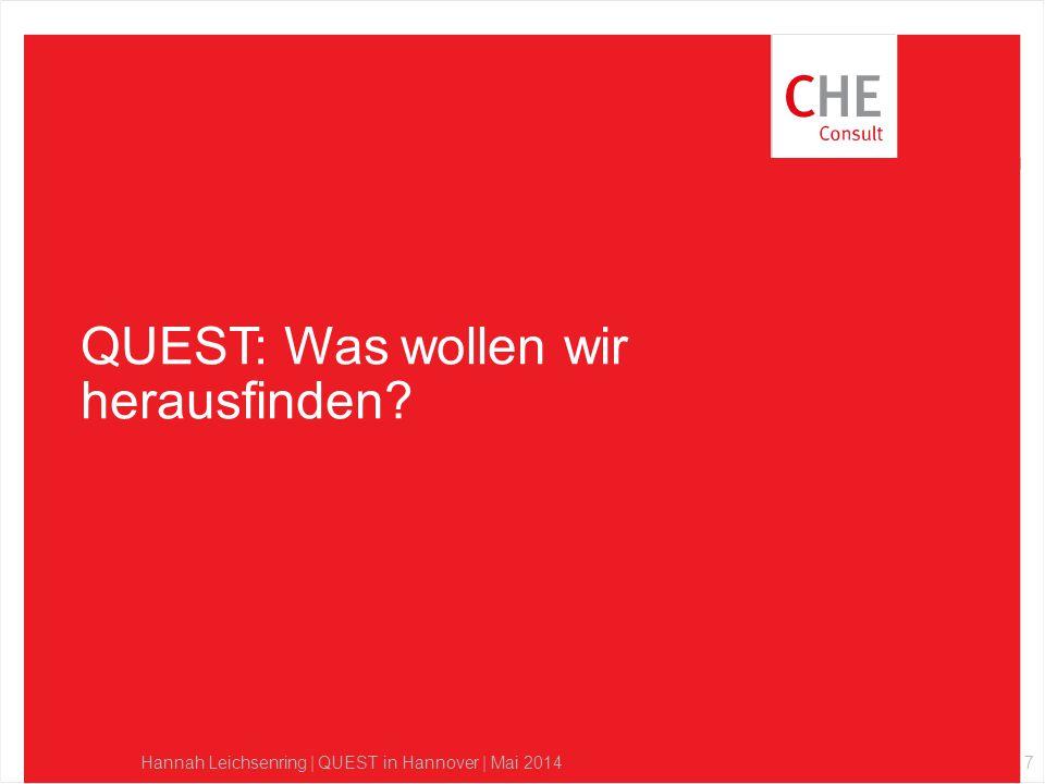 QUEST: Was wollen wir herausfinden? Hannah Leichsenring | QUEST in Hannover | Mai 20147