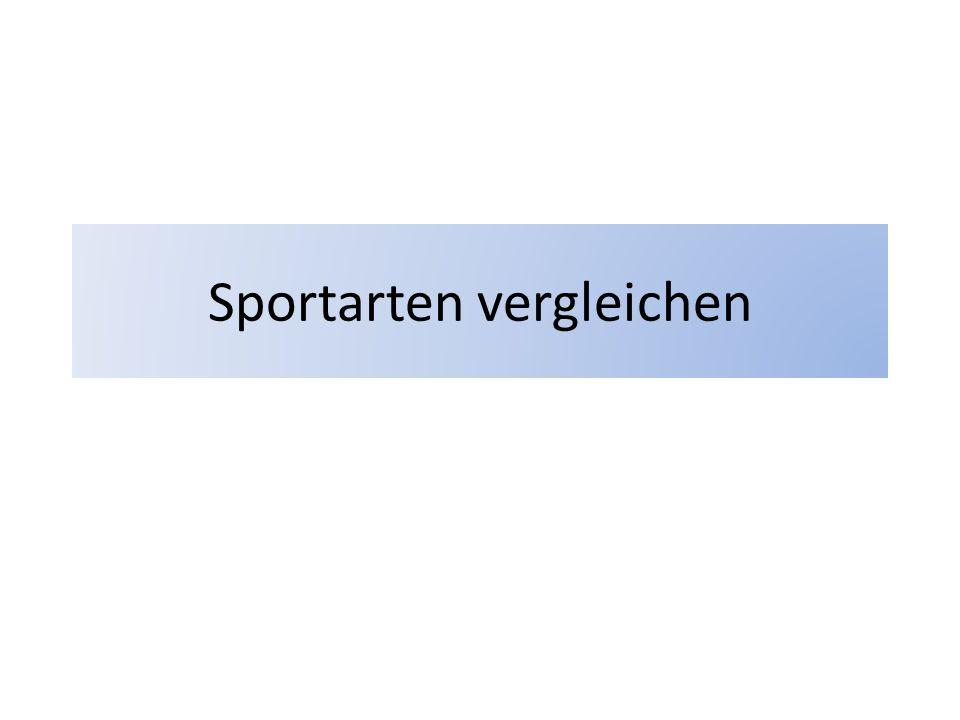 Sportarten vergleichen