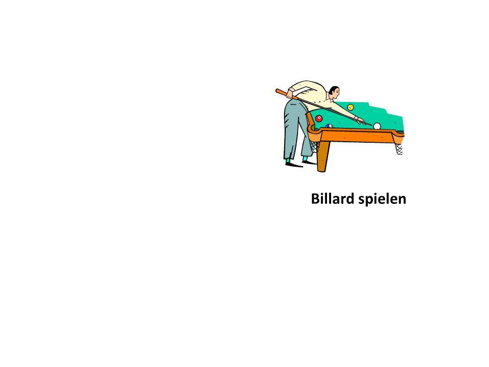 Billard spielen