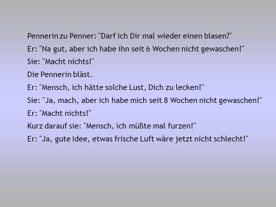 Pennerin zu Penner: