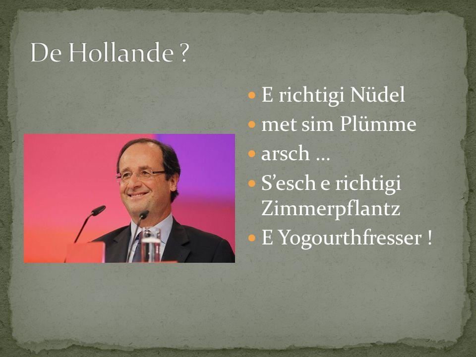 E richtigi Nüdel met sim Plümme arsch … S'esch e richtigi Zimmerpflantz E Yogourthfresser !