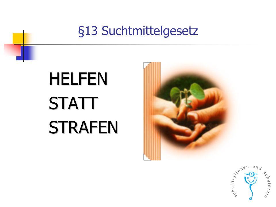 §13 Suchtmittelgesetz HELFENSTATTSTRAFEN