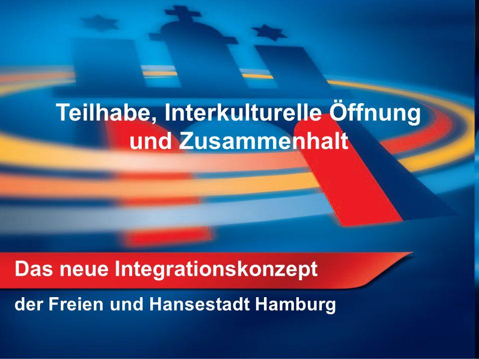 Das neue Integrationskonzept der Freien und Hansestadt Hamburg Teilhabe, Interkulturelle Öffnung und Zusammenhalt