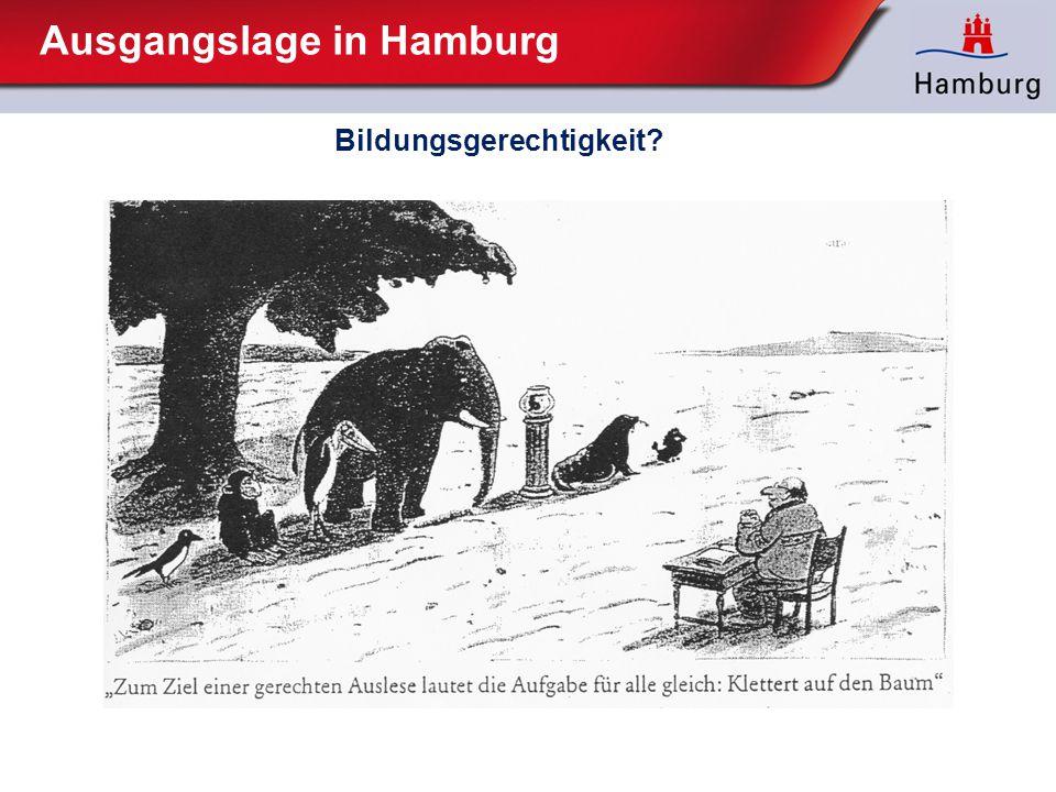 Ausgangslage in Hamburg Bildungsgerechtigkeit?