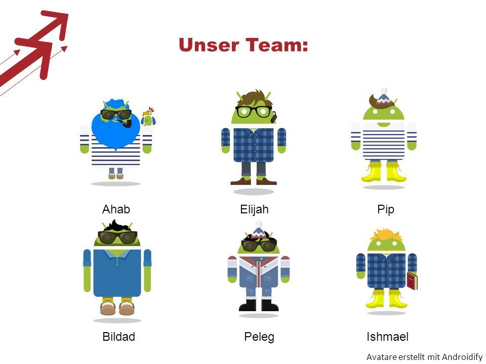 Unser Team: Avatare erstellt mit Androidify AhabElijahPip Bildad Peleg Ishmael