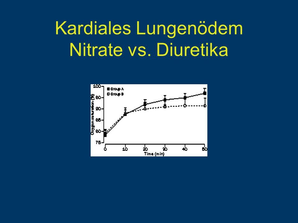 Kardiales Lungenödem Nitrate vs. Diuretika