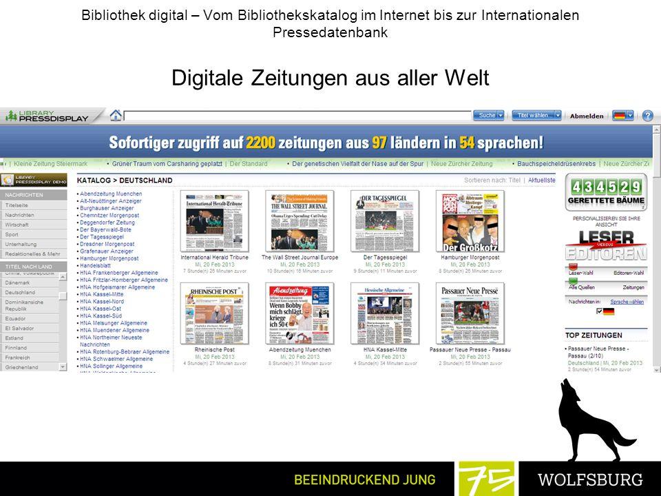 Digitale Zeitungen aus aller Welt