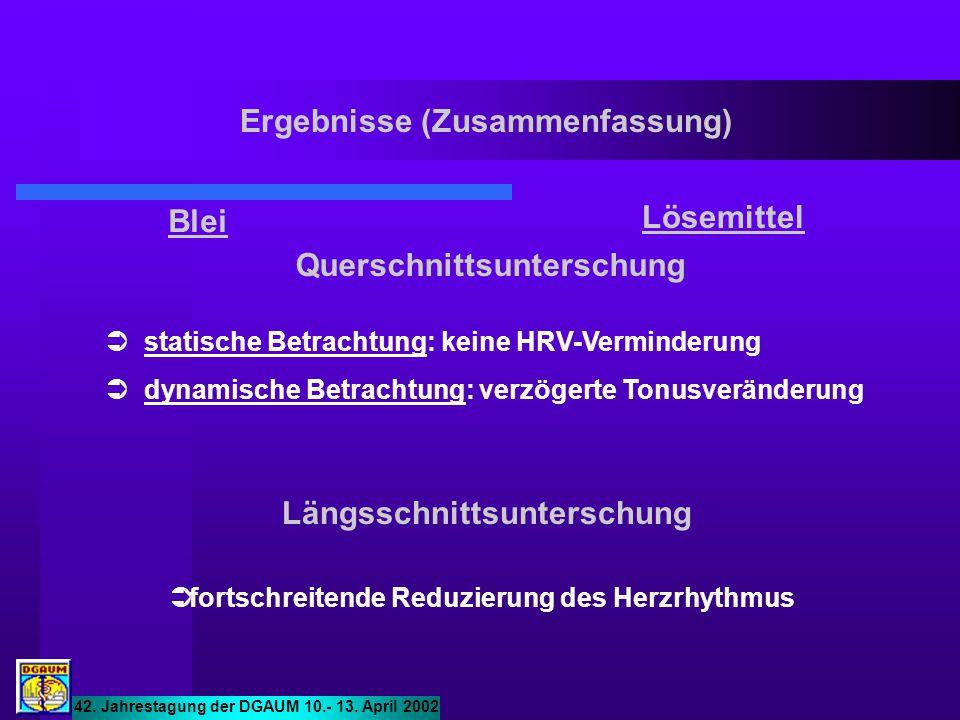  statische Betrachtung: keine HRV-Verminderung  dynamische Betrachtung: verzögerte Tonusveränderung  fortschreitende Reduzierung des Herzrhythmus 4