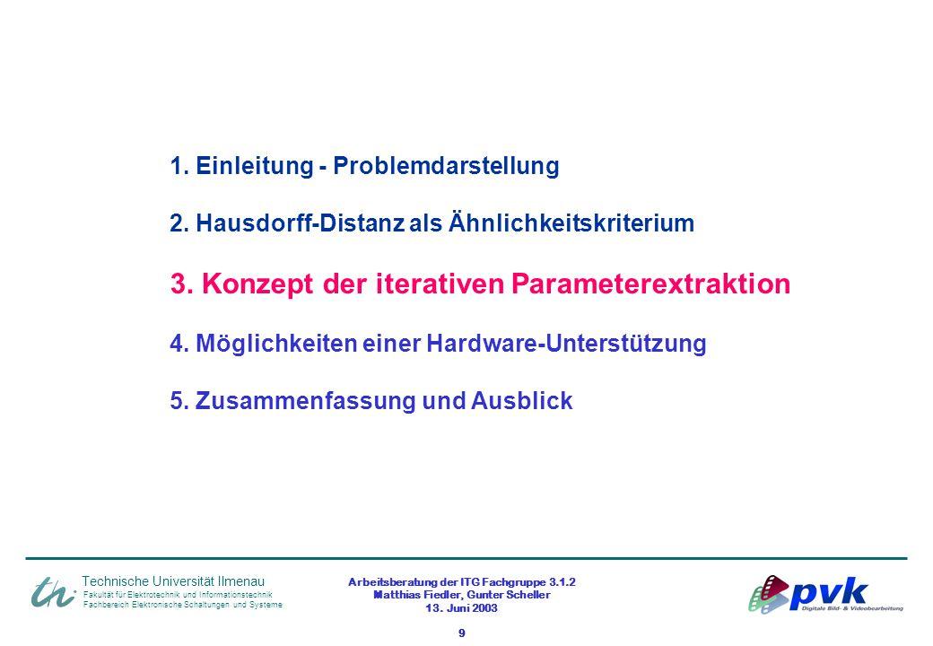 Arbeitsberatung der ITG Fachgruppe 3.1.2 Matthias Fiedler, Gunter Scheller 13. Juni 2003 9 Fakultät für Elektrotechnik und Informationstechnik Fachber