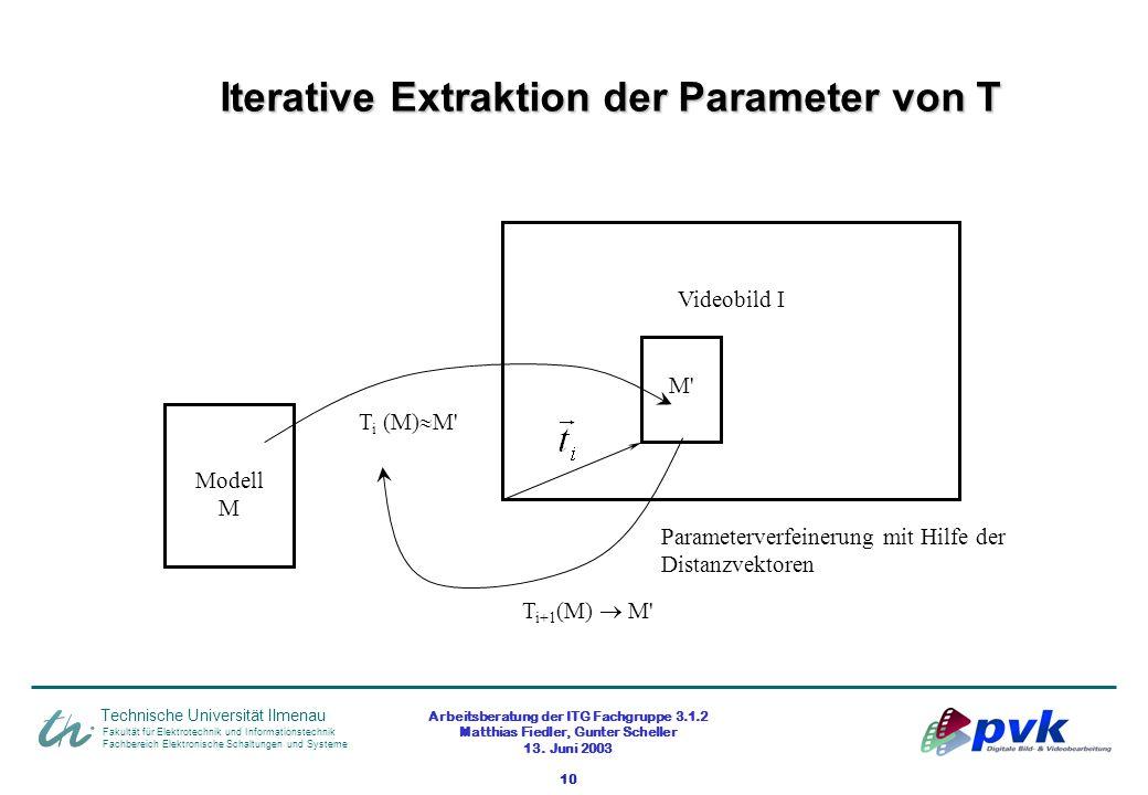 Arbeitsberatung der ITG Fachgruppe 3.1.2 Matthias Fiedler, Gunter Scheller 13. Juni 2003 10 Fakultät für Elektrotechnik und Informationstechnik Fachbe