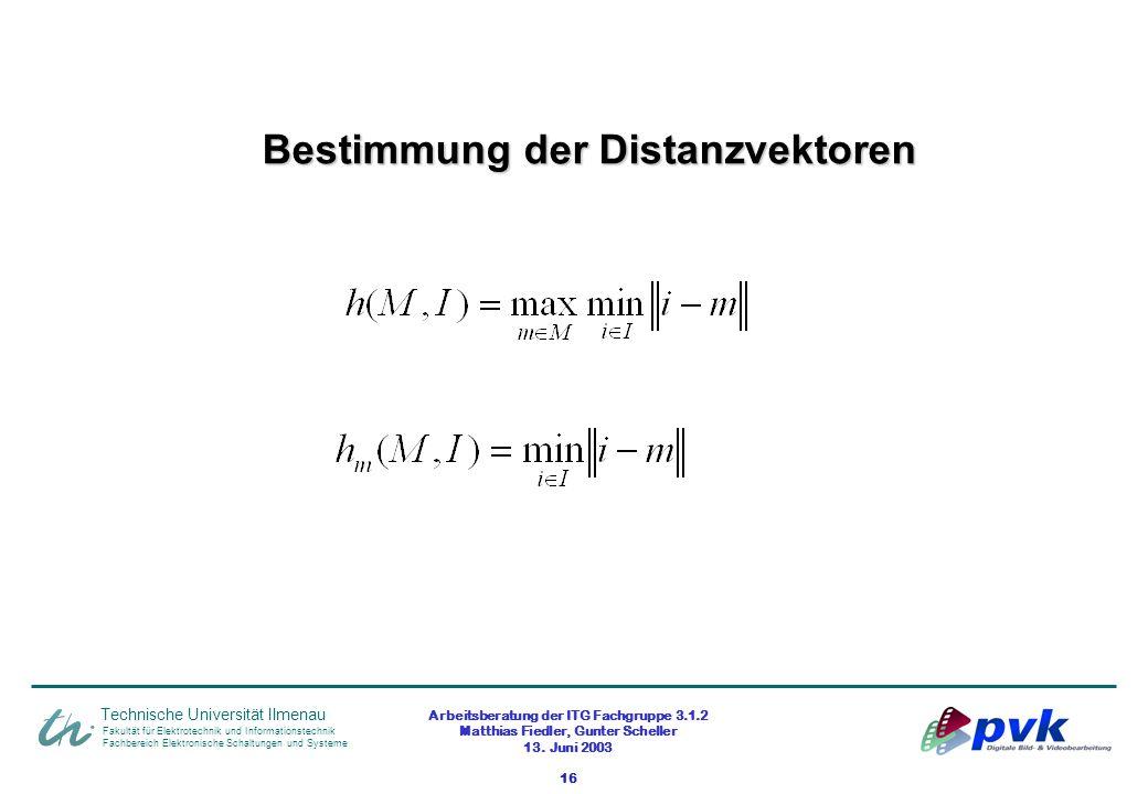 Arbeitsberatung der ITG Fachgruppe 3.1.2 Matthias Fiedler, Gunter Scheller 13. Juni 2003 16 Fakultät für Elektrotechnik und Informationstechnik Fachbe