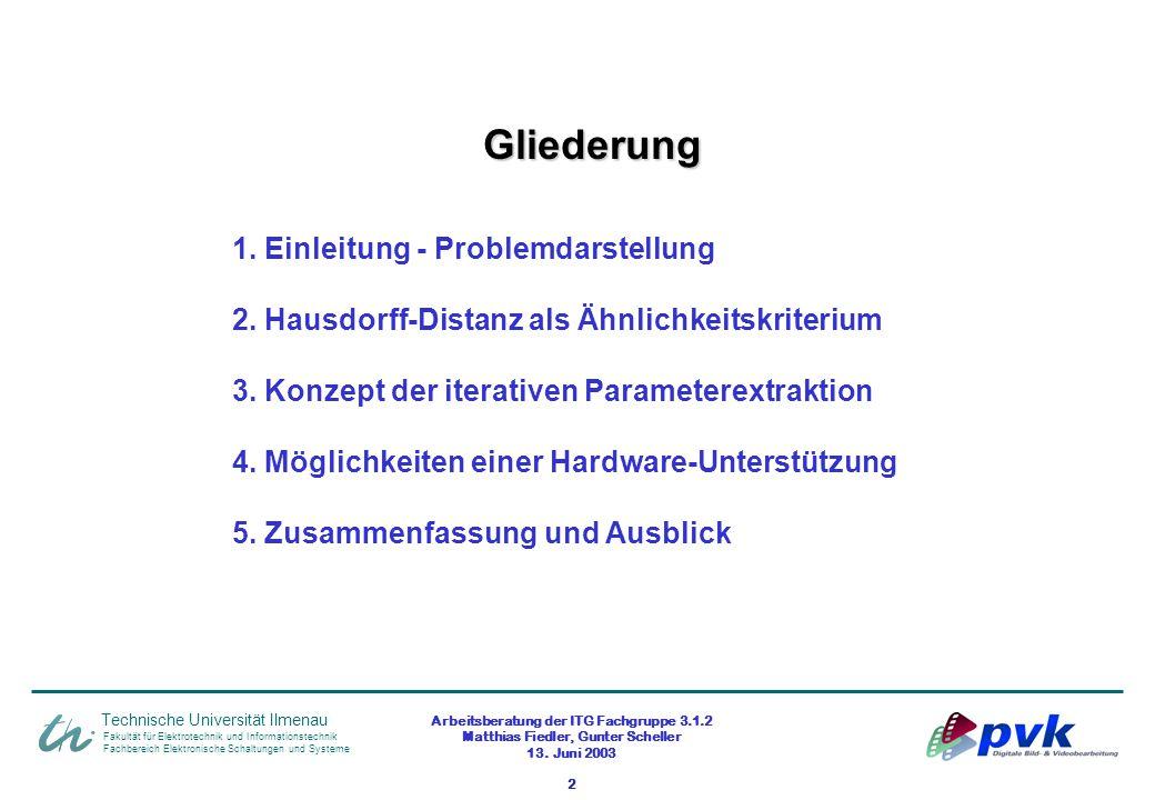 Arbeitsberatung der ITG Fachgruppe 3.1.2 Matthias Fiedler, Gunter Scheller 13. Juni 2003 2 Fakultät für Elektrotechnik und Informationstechnik Fachber