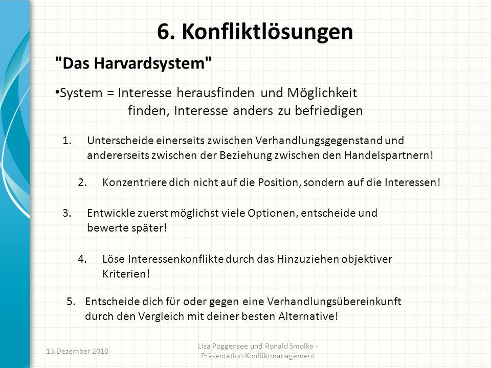 6. Konfliktlösungen